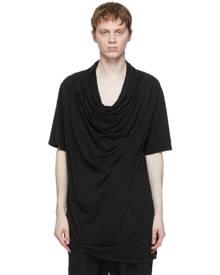 Julius Black Layered Neck T-Shirt