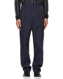 Giorgio Armani Navy Gabardine Cargo Pants