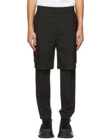 Juun.J Black Layered Cargo Pants