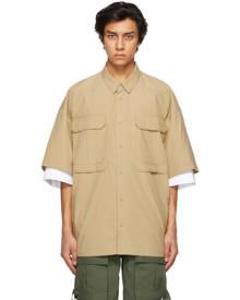 Juun.J Beige Layered Pocket Short Sleeve Shirt