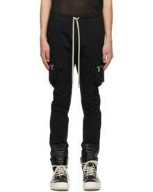 Rick Owens Black Mastodon Cargo Pants