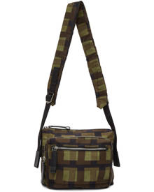 Dries Van Noten Khaki Len Lye Edition Nylon Messenger Bag
