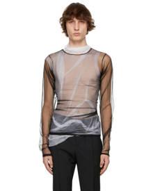 Maison Margiela Black Mesh Layered Long Sleeve T-Shirt