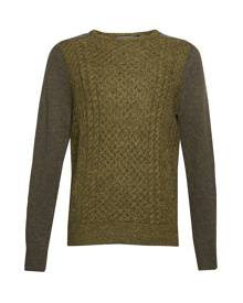 French Connection Mohair Cable Mix Jumper - Green