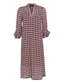 Selected Femme Checked Ankle Dress - Brown