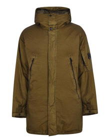 CP COMPANY Long Down Jacket - Olive 659