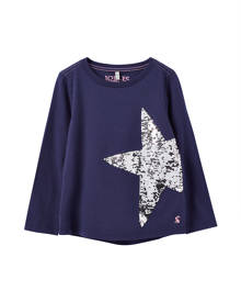 Joules Ava Flip-Sequin Star Tee, Size 3-12