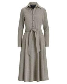Polo Ralph Lauren Houndstooth Wool-Blend Dress