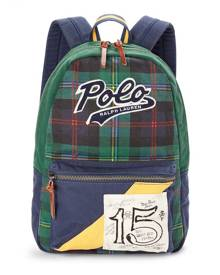 Polo Ralph Lauren Tartan Cotton Canvas Backpack