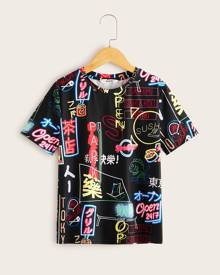 Boys All Over Slogan Graphic Tee