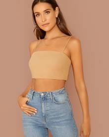 SHEIN Solid Cami Crop Top