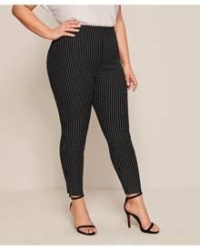 SHEIN Plus Vertical Stripe Skinny Jeans