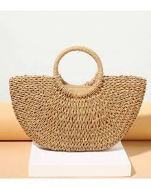 SHEIN Woven Design Tote Bag