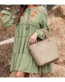 SHEIN Straw Woven Tote Bag