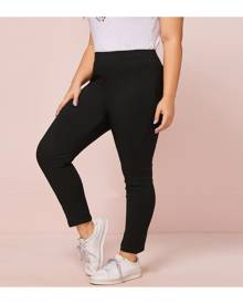 SHEIN Plus Size Solid Skinny Jeans