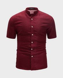 SHEIN Men All Over Print Shirt