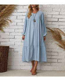 SHEIN Lantern Sleeve Smock Smock Dress