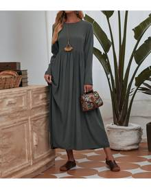 SHEIN Solid Smock Dress