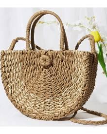 SHEIN Straw Tote Bag