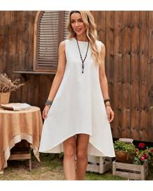 SHEIN High Low Hem Sleeveless Tunic Dress