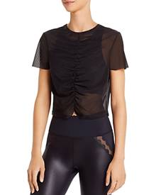 Urban Savage Ruched Mesh Cropped Top