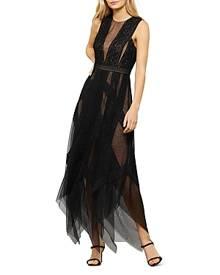 Bcbgmaxazria Andi Lace Trim Evening Dress