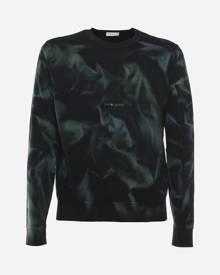 Saint Laurent Cotton Sweatshirt With Tie-dye Motif