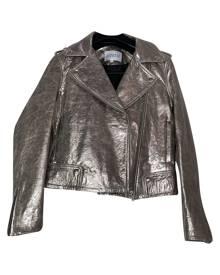 Claudie Pierlot \N Metallic Leather Leather Jacket for Women