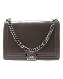 Chanel Boy Brown Leather Handbag for Women