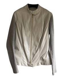 Autre Marque \N Metallic Leather Leather Jacket for Women