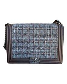 Chanel Boy Multicolour Tweed Handbag for Women