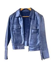 Cerruti \N Metallic Leather Leather Jacket for Women