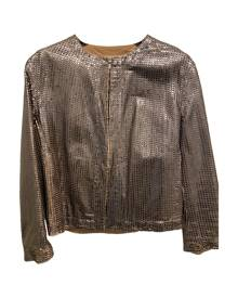 Drome \N Metallic Leather Leather Jacket for Women