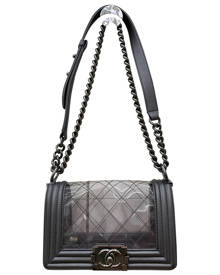 Chanel Boy Silver  Handbag for Women