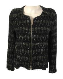 Iro \N Metallic Wool Leather Jacket for Women