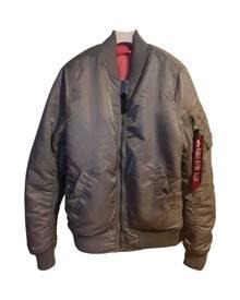 Alpha Industries \N Metallic  Leather Jacket for Women