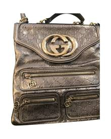 Gucci \N Metallic Leather Backpack for Women Vintage