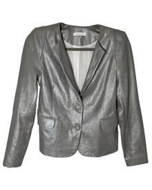 Sandro \N Metallic Leather Leather Jacket for Women