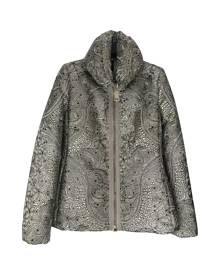 Moncler Classic Metallic  Leather Jacket for Women