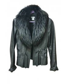 Caché \N Metallic Leather Leather Jacket for Women