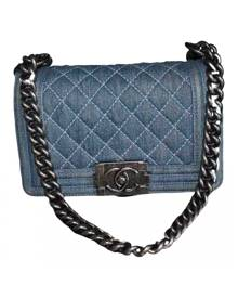 Chanel Boy Blue Cloth Handbag for Women