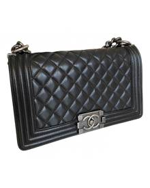 Chanel Boy Black Leather Handbag for Women