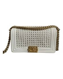 Chanel Boy White Leather Handbag for Women