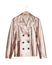 Alberta Ferretti \N Metallic Leather Leather Jacket for Women Vintage