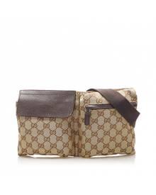 Gucci \N Brown Cloth Belt Bag for Men