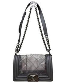 Chanel Boy Silver handbag for Women \N