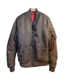 Alpha Industries \N Metallic Leather jacket for Women 48 FR