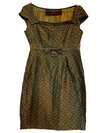 Holiday \N Green Cotton - elasthane dress for Women 38 IT