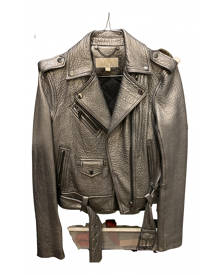 Michael Kors \N Metallic Leather Leather jacket for Women 38 IT