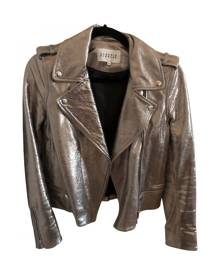 Claudie Pierlot \N Metallic Leather jacket for Women 36 FR